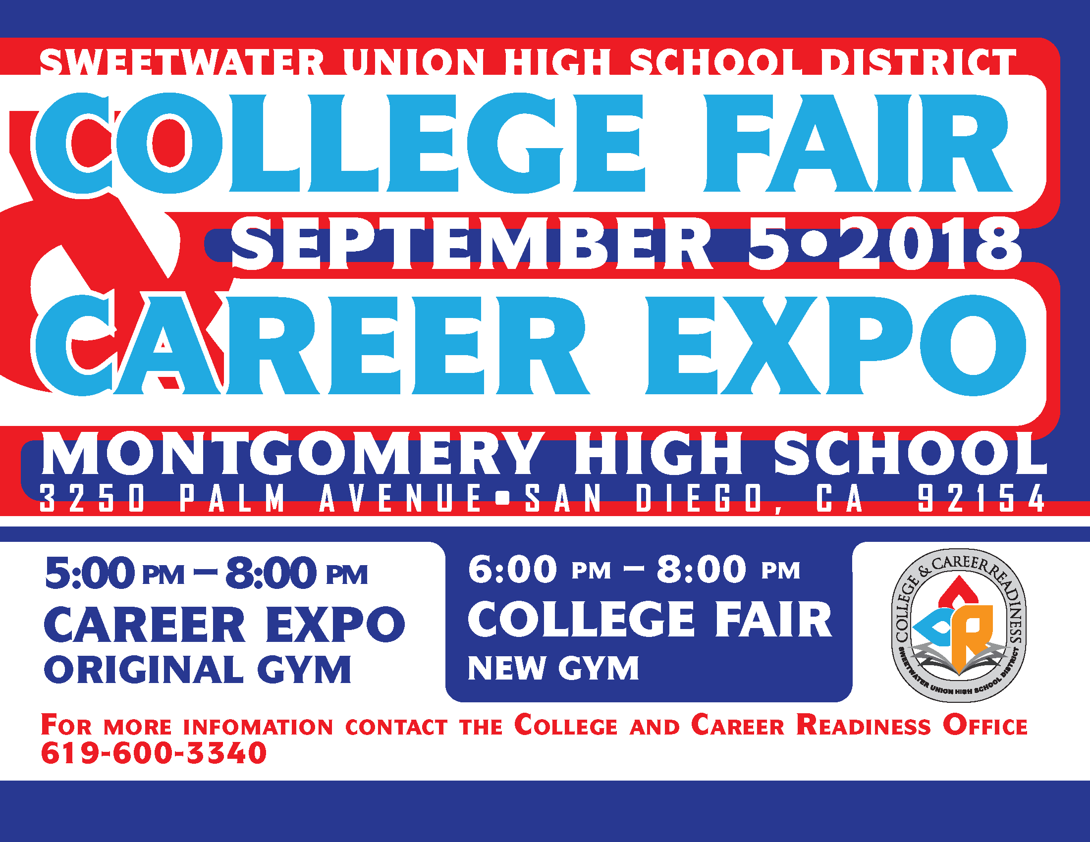 College Fair and Career Expo 2018 Flyer